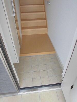 ペルマネンテB 02010号室の玄関