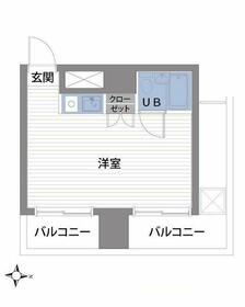 スカイコート渋谷・701号室の間取り