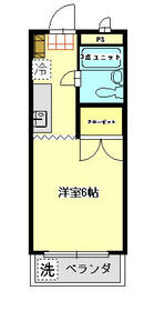 ドミール斎藤・206号室の間取り
