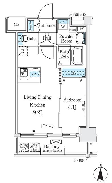 ディームス東陽町Ⅱ 1013のFloor plan