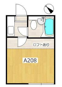 プラザ・ドゥ・デボンA棟・208号室の間取り
