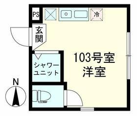 クオーレ板橋本町・103号室の間取り