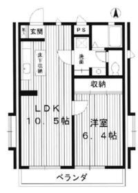 貫井アパートメント・201号室の間取り