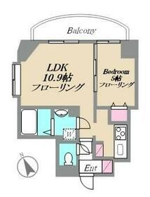 パレ・ソレイユ西新宿(ニシシンジュク)・204号室の間取り