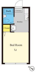 ヒルトップハウス 103号室の間取り