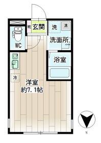 リチェンシア横浜三ツ沢下町・00502号室の間取り