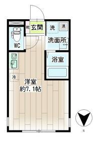 リチェンシア横浜三ツ沢下町・00402号室の間取り