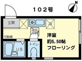 k-flat湘南・102号室の間取り