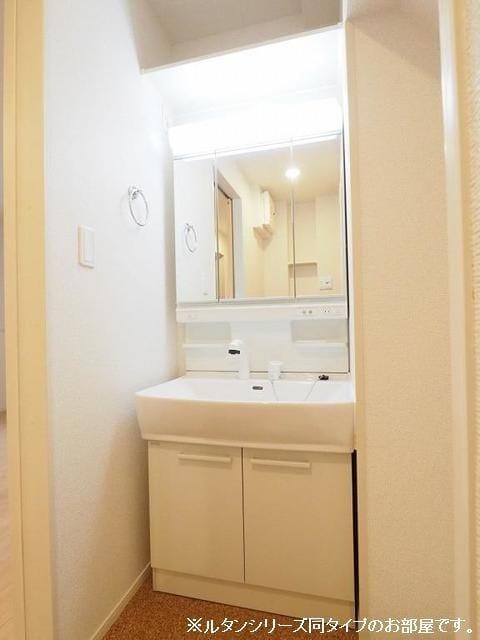 トムトック Ⅴ 01020号室の洗面所