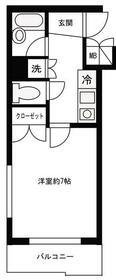 ルーブル早稲田参番館・401号室の間取り