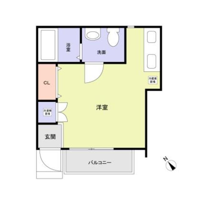 (仮称)大田区東六郷1丁目計画・1号室の間取り