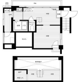 新宿タウンプラザビル・5FD号室の間取り