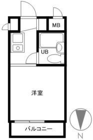 スカイコート下高井戸・703号室の間取り