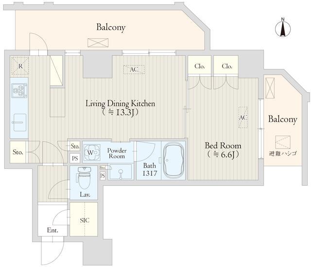 Keyaki Terrace 恵比寿南・401号室の間取り