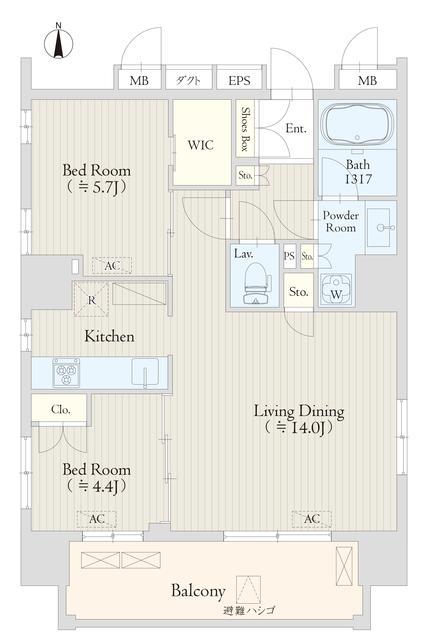 Keyaki Terrace 恵比寿南・403号室の間取り
