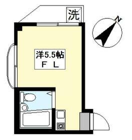 エクセル東長崎・303号室の間取り