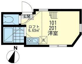 ユナイト安善パラティーノの杜・101号室の間取り