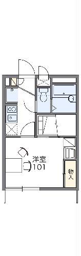 レオパレスH・Y・Ⅲ・104号室の間取り