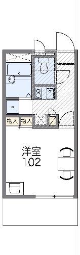 レオパレスRyusei中道通・104号室の間取り