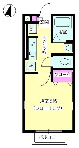 ヴェルデ七里ガ浜Ⅱ・101号室の間取り
