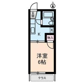 カディ東高円寺・0102号室の間取り