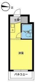 スカイコート下高井戸・206号室の間取り