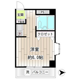 第22新井ビル・00401号室の間取り