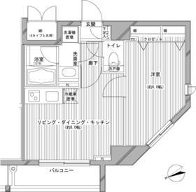 デュオ・スカーラ新宿Ⅱ・402号室の間取り