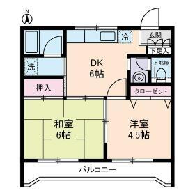 ルミエール本宿弐番館・0201号室の間取り