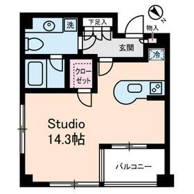 ウィズウィース渋谷神南S棟・0208号室の間取り