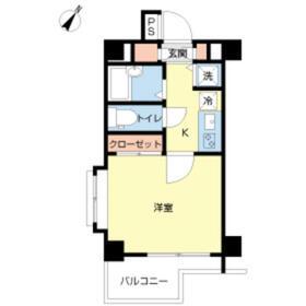 スカイコート新宿弐番館・210号室の間取り