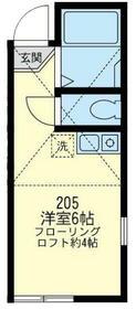 ユナイト横浜エトランゼ・205号室の間取り