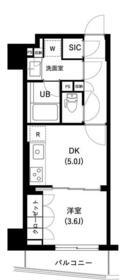 ザ・レジデンス三ノ輪Ⅱ・0506号室の間取り
