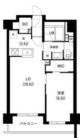 ザ・レジデンス三ノ輪Ⅱ・0503号室の間取り