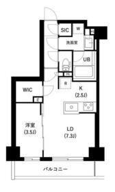 ザ・レジデンス三ノ輪Ⅱ・0402号室の間取り
