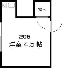 murayama-sou・205号室の間取り