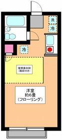 リーベ田浦 203号室の間取り