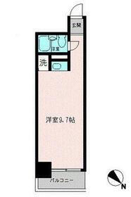 コモド横浜サウス・0509号室の間取り