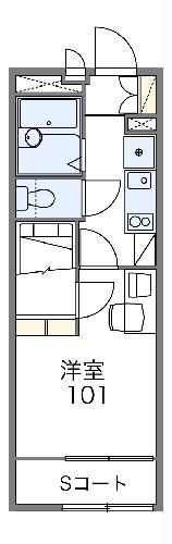 レオパレスガーデン・105号室の間取り