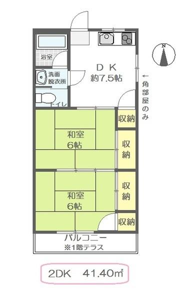 川井ハイツ 202号室の間取り
