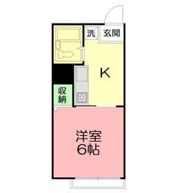 ピースハウスⅡ・103号室の間取り