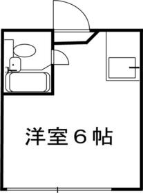 メニエル87・203号室の間取り