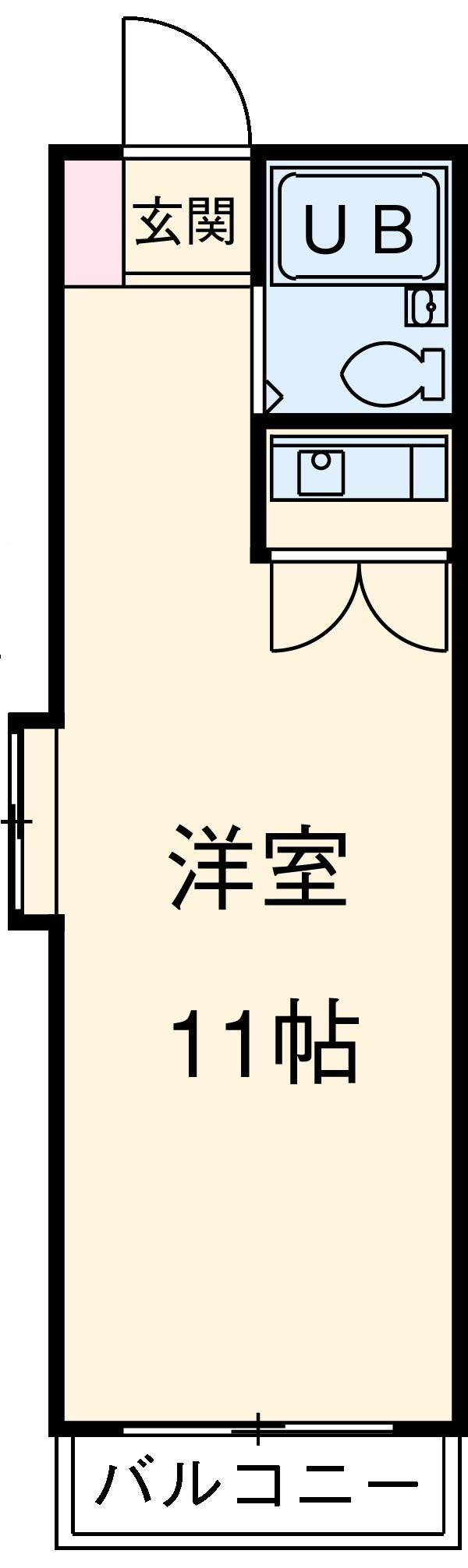 グレイス第6マンション 203号室の間取り