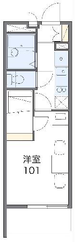 レオパレスA&K 高松・402号室の間取り