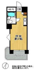 ロマネスク美野島・203号室の間取り