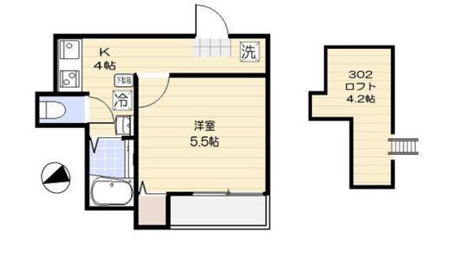 仮称)足立区舎人2丁目共同住宅 新築工事 302号室の間取り