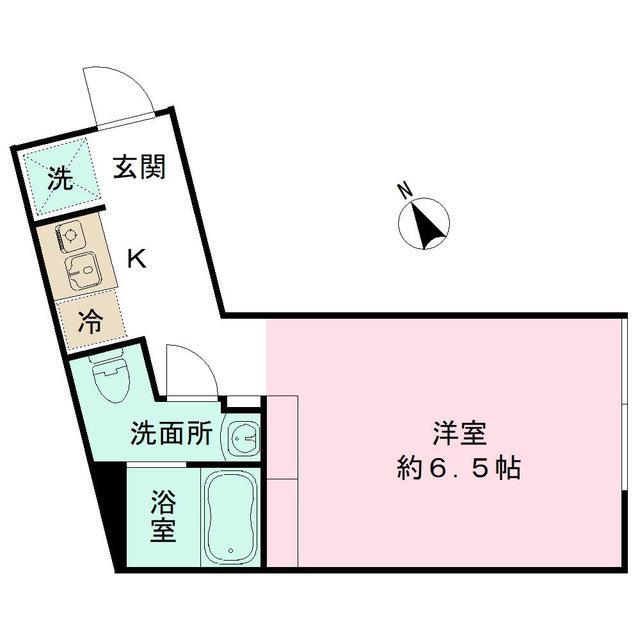 the KOISHIKAWA 402号室の間取り
