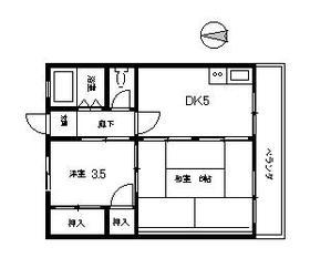 いづみマンション・305号室の間取り