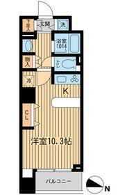 KDXレジデンス幡ヶ谷・1103号室の間取り