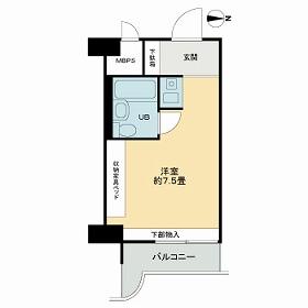ライオンズマンション新大阪第5・1111号室の間取り